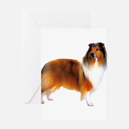 Gold Rough Collie Dog Greeting Card