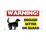 English Setter On Guard Banner