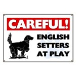 English Setters At Play Banner