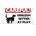 English Setter At Play Banner