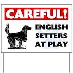 English Setters At Play Yard Sign