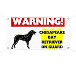 Chesapeake Bay Retriever On Guard Banner