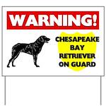 Chesapeake Bay Retriever On Guard Yard Sign