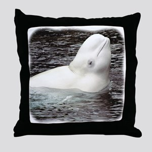 Beluga Head Throw Pillow