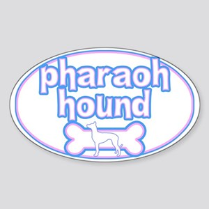 Powderpuff Pharaoh Hound Oval Sticker