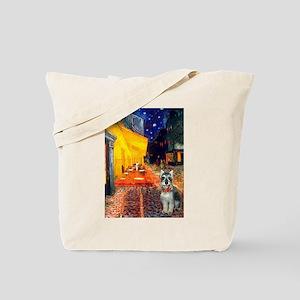 Cafe / Schnauzer (#8) Tote Bag