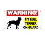 Pit Bull Terrier On Guard Banner
