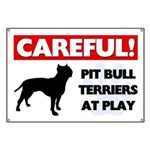 Pit Bull Terriers At Play Banner