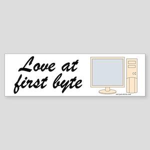 Love At First Byte Bumper Sticker