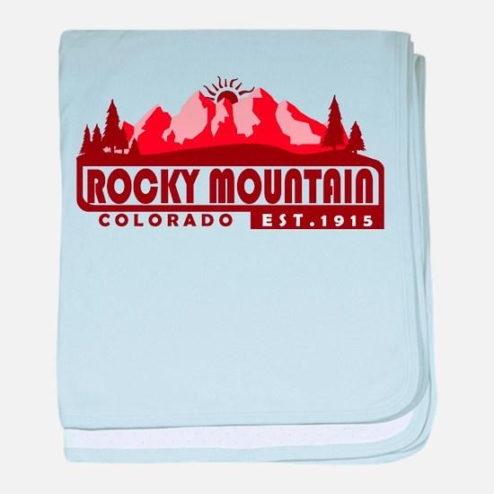 Rocky Mountain - Colorado baby blanket
