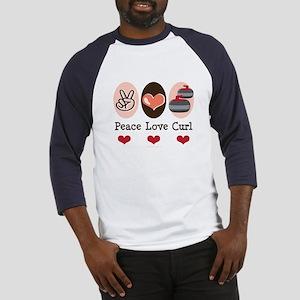 Peace Love Curl Curling Baseball Jersey