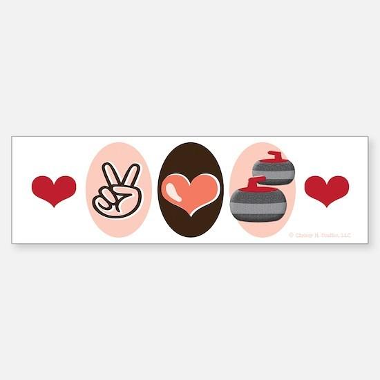 Peace Love Curl Curling Bumper Bumper Bumper Sticker