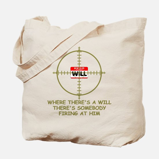Funny slogan Gun themed Tote Bag