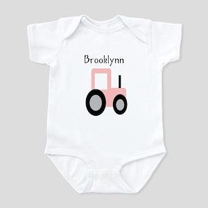 Brooklynn - Pink Tractor Infant Bodysuit