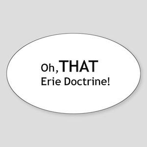 Erie Doctrine Oval Sticker