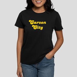 Retro Carson City (Gold) Women's Dark T-Shirt