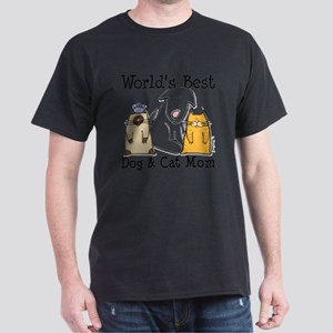 World's Best Dog & Cat Mom T-Shirt