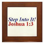 Joshua 1:3 Framed Tile