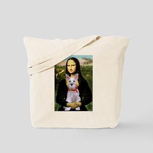 Mona Lisa / Min Schnauzer Tote Bag