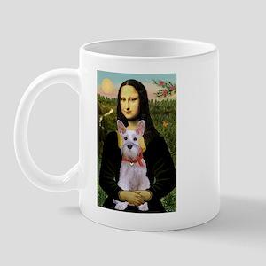 Mona Lisa / Min Schnauzer Mug
