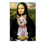 Mona Lisa / Min Schnauzer Postcards (Package of 8)