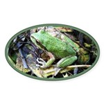 Pacific Chorus Frog Treefrog Oval Sticker (10 pk)