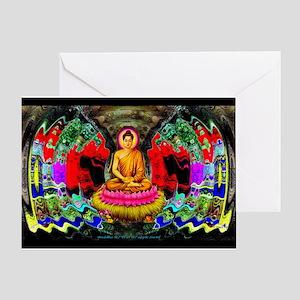 """""""Buddha Swirl"""" - Greeting Card"""
