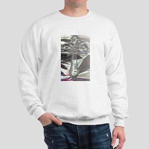 Cross Clear with shimmering backgrd. Sweatshirt