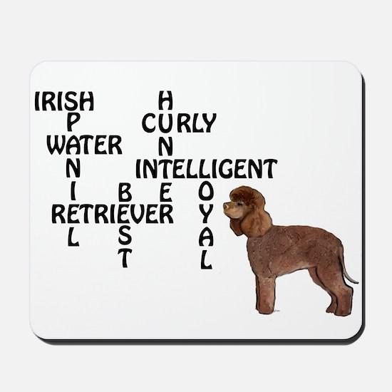 Irish water spaniel crossword Mousepad