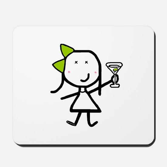 Girl & Martini Mousepad