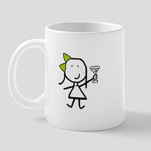 Girl & Martini Mug