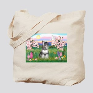 Blossoms / Min Schnauzer Tote Bag