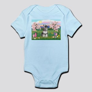 Blossoms / Min Schnauzer Infant Bodysuit