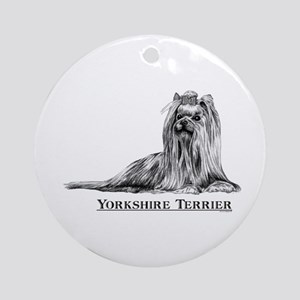 Yorkshire Terrier Yorkie Breed Ornament (Round)