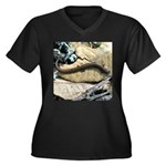California Slender Salamander Women's Plus Size V-