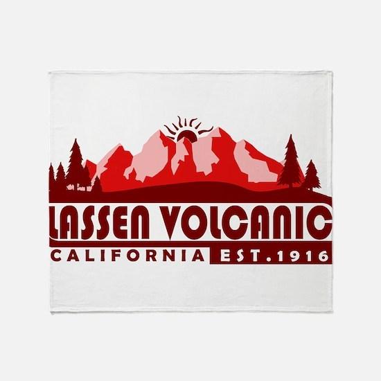 Lassen Volcanic - California Throw Blanket