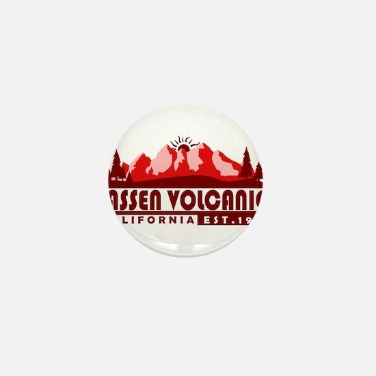 Lassen Volcanic - California Mini Button