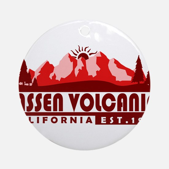 Lassen Volcanic - California Round Ornament