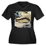 Calif. Slender Salamander Women's Plus Size V-Neck