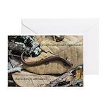 Calif. Slender Salamander Greeting Card