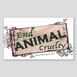 End Animal Cruelty Sticker