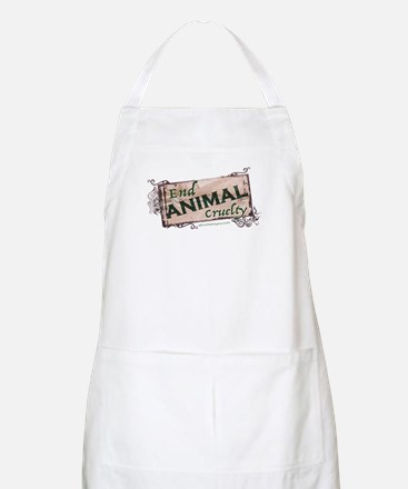 End Animal Cruelty Light Apron