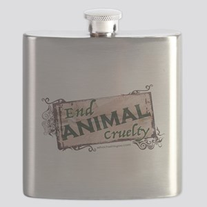 End Animal Cruelty Flask
