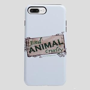 End Animal Cruelty iPhone 8/7 Plus Tough Case