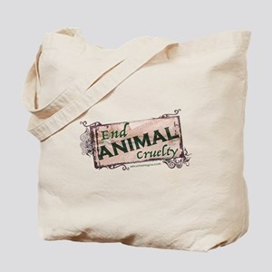 End Animal Cruelty Tote Bag