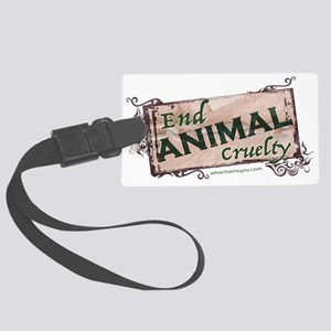End Animal Cruelty Luggage Tag