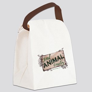 End Animal Cruelty Canvas Lunch Bag