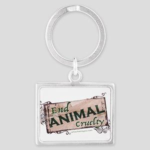 End Animal Cruelty Keychains