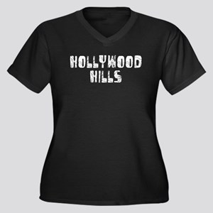 Hollywood Hi.. Faded (Silver) Women's Plus Size V-