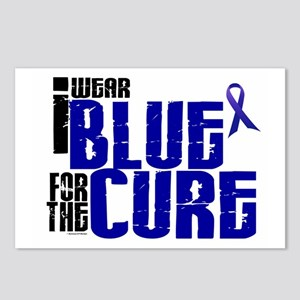 I Wear Blue For The Cure 6 Postcards (Package of 8